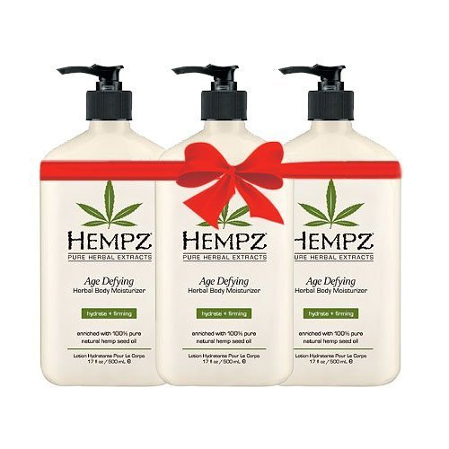 Hempz Age Defying Herbal Body Moisturizer 17 Oz Pack Of 3, 17 Oz