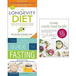 Longevity diet, complete guide to fasting and healthy medic food for life 3 books collection set