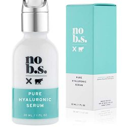 No B.S. Pure Hyaluronic Acid Serum. Anti Aging Serum For Face. Ultra Hydrating Moisturizer. Potent Formulas. Clean Skincare.