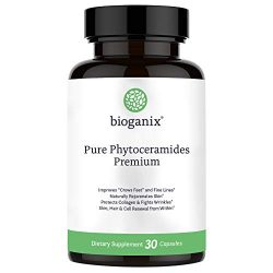 Bioganix Anti-Aging Supplement with Phytoceramides and Vitamin A, C, D & E, 30 Capsules