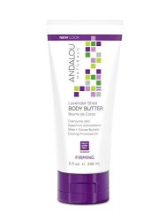 Andalou Naturals Lavender Shea Firming Body Butter, 8 Ounce