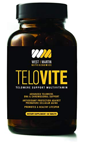 TeloVite – Advanced Multivitamin Telomere Supplement – Anti-Aging Formula – Activate Telomerase and Lengthen Telomeres – 90 Tablets