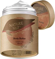 Body Butter Cream Skin Moisturizer – Anti Aging Tightening and Firming Body Lotion for Dry Skin with 5 Nut Hydration Boost Skin Glow Formula