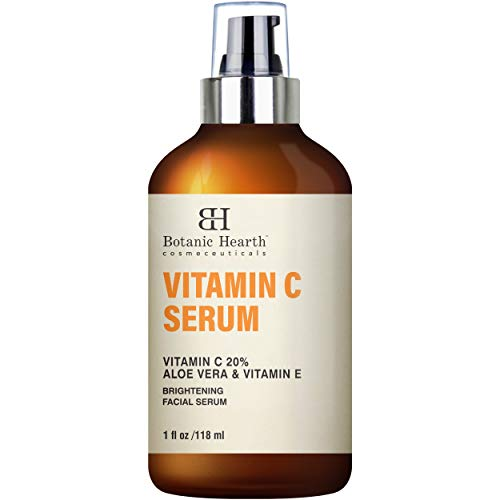 BOTANIC HEARTH Vitamin C Serum for Face – Skin Brightening Facial Serum with Aloe Vera & Vitamin E, Anti Aging, Advanced Skin Care – 1 fl oz