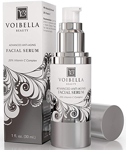 BEST Natural Anti-Aging Facial Serum Vitamin C Complex – Anti-Wrinkle Face Serum For Women & Men. Ultra Hydrating, Smoothing, Skin Tightening, Firming, Brightening, Pore Min & Anti Blemish Treatment