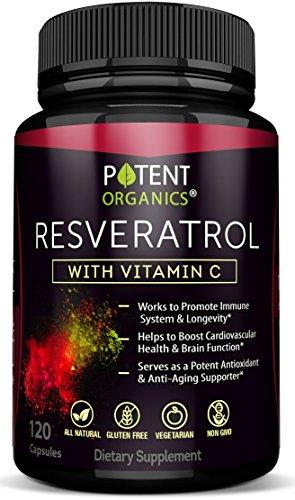 Extra Strong Resveratrol 1150mg – Anti-Aging Antioxidant Supplement – Promotes Immune & Cardiovascular Health – 120 Veggie Capsules with Trans Resveratrol, Vitamin C & Moringa – 100% Money Back
