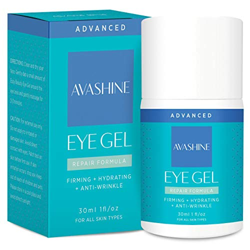 Avashine Natural Eye Gel for Dark Circles, Puffiness, Wrinkles and Eye Bags, Hydrating Eye Serum, Effective Anti-Aging Eye Gel for Under and Around Eyes