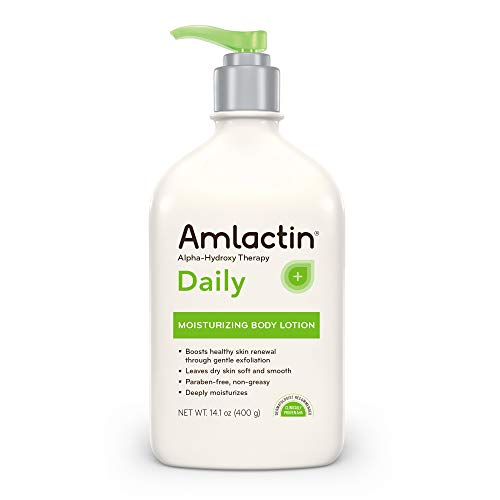 AmLactin Daily Moisturizing Body Lotion , 14.1 Ounce (Pack of 1) Bottle with Pump, Paraben Free