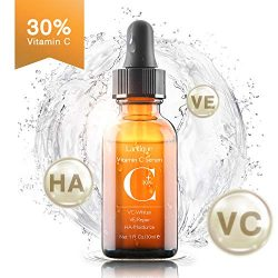 Upgraded 30% Vitamin C Serum with Hyaluronic Acid and Vit E,Anti Aging Face Serum for Face Eyes,Anti Wrinkle Vitamin C Facail Serum