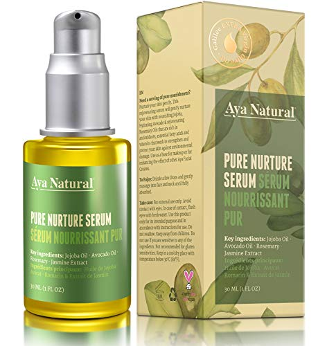 All Natural Face Serum Moisturizer – Vegan Anti Aging Anti Wrinkle Hydrating Daily Facelift Serum for Facial Dry Skin by Aya Natural