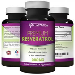 Pure Resveratrol – 2000mg – Strongest, Most Effective Blend on Amazon – 90 Capsules – Order Risk Free