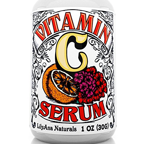 Vitamin C Serum with Hyaluronic Acid for Face and Eyes – Organic Skin Care with Natural Ingredients for Acne, Anti Wrinkle, Anti Aging, Fades Age Spots and Sun Damage – 1 OZ