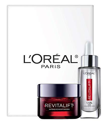 L'Oreal Paris Skin Care Revitalift Hyaluronic Acid Facial Serum and Triple Power Face Moisturizer Anti-Aging Skin Care Set, 1 Kit