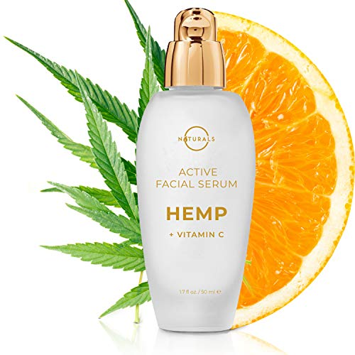 O Naturals Vitamin C Hyaluronic Acid Gel Serum for Face. Spot Corrector Anti Aging Organic Hydrating Hemp Oil Moisturizer for Face & Eyes Repairs Wrinkles Acne Dark Circles Sun Damage Non Greasy 1.7oz