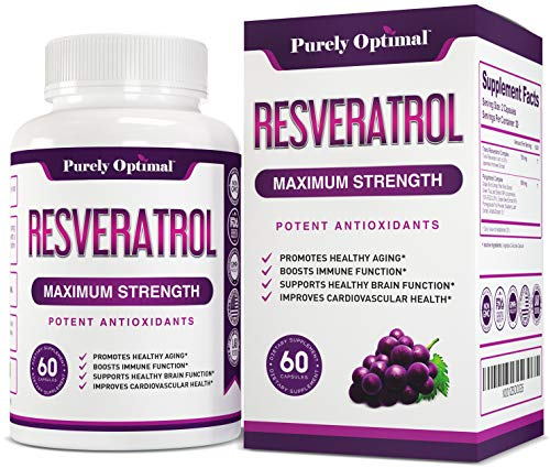 Premium Resveratrol Supplement 1500mg – Max Strength Potent Antioxidant, Trans Resveratrol Capsules for Heart Health, Anti-Aging, Immune Health – with Grape Seed & Green Tea Extract – 30 Days Supply