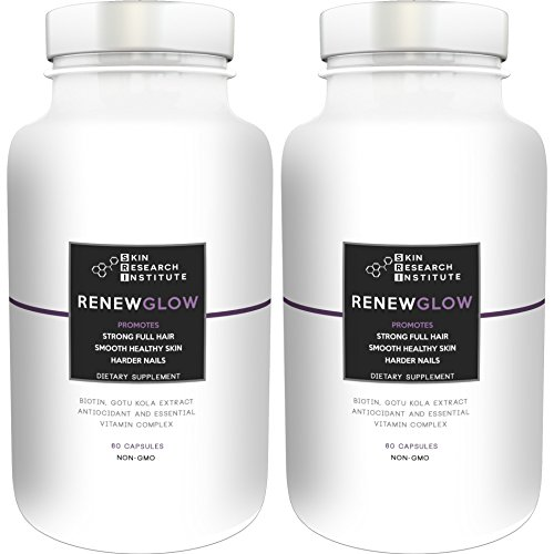 Renewglow – Anti Aging Supplement Fights Against Biotin Deficiency, Free Radicals and Prevents Oxidation to Restore Hair and Skin for A Healthy Glow (2 – Pack)