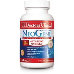 U.S. Doctors' Clinical NeoGene Anti-Aging Supplement Original Formula with Vitality Nutrients for Enhacing Mood, Sharpening Cognition, Heart Health, and Antioxidant Support [1 Month Supply – 60 Count]