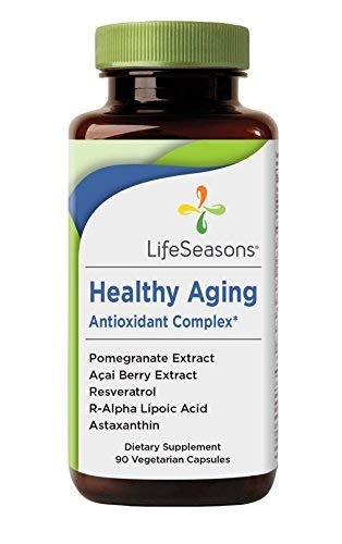 Healthy Aging – Anti Aging Supplement – Neutralize Free Radicals – Antioxidant Complex – Formula Includes Acai Berry, Astaxanthin, Resveratrol, R-Alpha Lipoic Acid & Pomegranate Extract (90 Capsules)