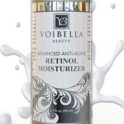 Advanced Organic Retinol Night Cream & Best Natural Anti-Aging Facial Moisturizer For Women – Anti-Wrinkle, Dark Spot Remover, Collagen Booster, Pore Refining & Brightening Treatment For Face & Neck