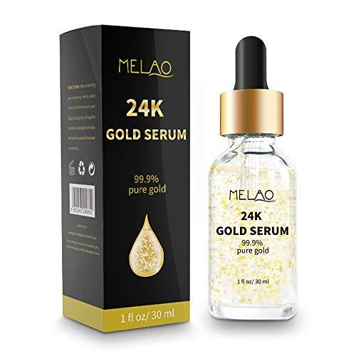 24k Pure Gold Foil Essence Serum Anti-Wrinkle Anti-Aging Serums For Reducing Fine Lines Brightening Skin Tone Anti-Oxidant Nourishing Whitening Firming