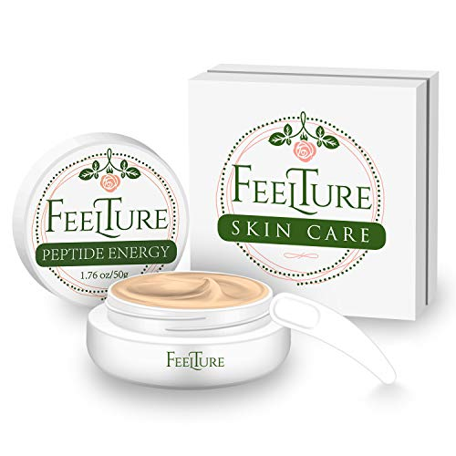 FeelTure Peptide Moisturizer Anti Aging Face Cream – Face & Neck Wrinkle Lotion – Reduce Appearance of Wrinkles, Dark Circles, Fine Lines & Acne – 1.76 oz