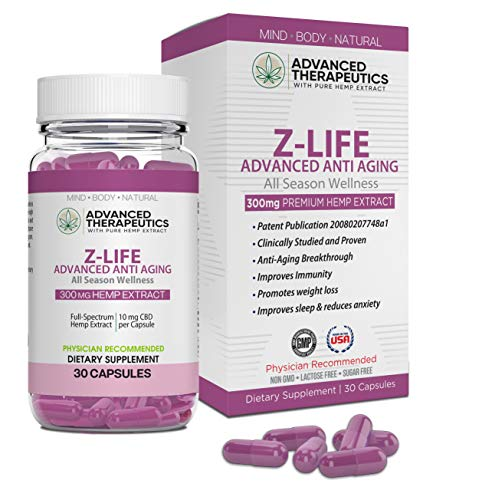 Z Life Stem Cell Supplement Patented Anti-Aging Supplement. Destroys Fat Cells, Increase Lean Muscle, Improve Mood,Immunity and Bedroom Performance with Hemp Extract