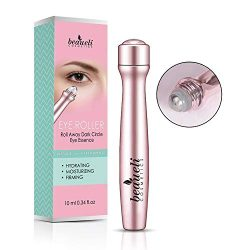 Beaueli 2-in-1 Eye Serum & Eye Roller for Dark Circles and Puffiness Anti Aging Puffy Eyes Massager Eye Bags Treatment Eye Stick
