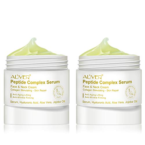 Peptide Wrinkle Cream,Anti-Wrinkle Cream,Anti aging serum,Collagen Peptides For Skin and Neck Moisturizer Cream Firming,Fights the Appearance of Wrinkles, Fine Lines,Best Day and Night