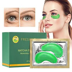 FRESHME Matcha Eye Mask – 20 Pairs Under Eye Patches Aloe Vera Extract Gel Masks for Anti Aging Reduce Puffiness Dark Circles Hyaluronic Acid Deep Hydration Eye Pads Treatment Mask for Women and Men