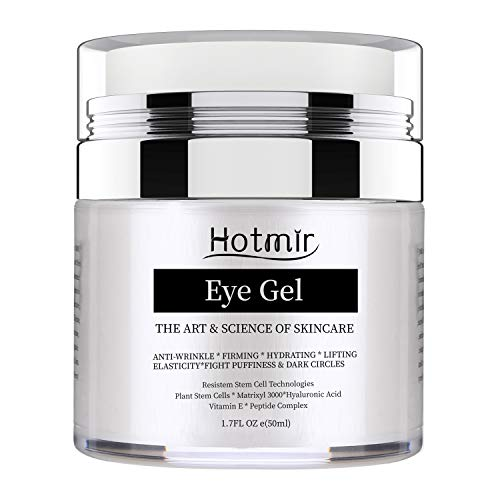 Hotmir Eye Gel for Dark Circles and Puffiness, | Wrinkles and Fine Lines, | Anti-aging Bags, Under Eye Cream Treatment – 1.7 fl oz