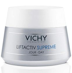 Vichy LiftActiv Supreme Anti Aging Face Moisturizer, Anti Wrinkle Cream to Firm & Illuminate, Suitable for Sensitive Skin, 1.69 Fl Oz