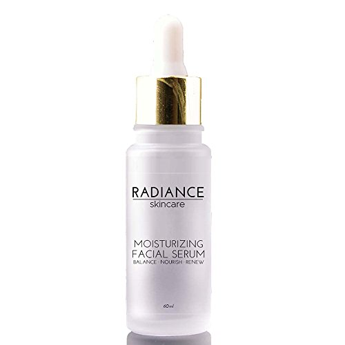 Radiance Skin Care – Moisturizing Facial Serum with Hyaluronic Acid | Natural Anti-Aging Skincare Treatment | Witch Hazel, Aloe, Jojoba Oil | Anti-Aging Acne & Dark Spot Corrector – 60mg / 2 fl oz