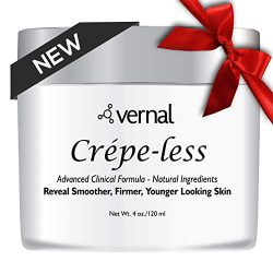 Crepe-less skin firming cream to repair crepey arms and neck. Best tightening cream to erase crepy skin on arms, neck and body. Best moisturizer to treat saggy, crepe skin. Made in USA