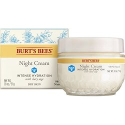 Burt's Bees Intense Hydration Night Cream, Moisturizing Night Lotion, 1.8 Ounces