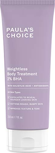 Paula's Choice Weightless Body Treatment 2% BHA, Salicylic Acid & Chamomile Lotion Exfoliant, Moisturizer for Keratosis Pilaris (KP) Prone Skin, 7 Ounce