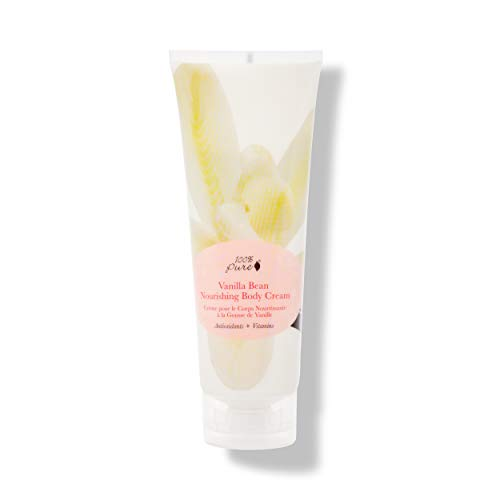 100% PURE Nourishing Body Cream, Vanilla Bean, Body Lotion for Dry Skin, Anti-Aging, Moisturizing Cocoa Butter, Natural Body Lotion – 8 Fl Oz