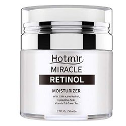 Hotmir Retinol Moisturizer Cream for Face and Neck, | with 2.5% Retinol, Hyaluronic Acid, Vitamin E and Green Tea | Anti Wrinkle Cream for Men and Women – 1.7 fl oz