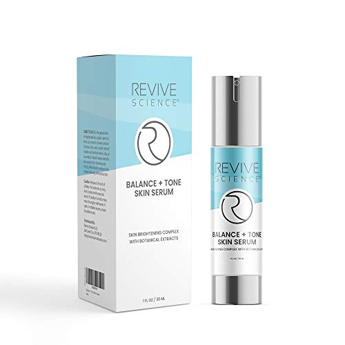 Revive Science Balance + Tone Skin Serum, Anti Aging Dark Spot Corrector Face Cream to Smooth & Lighten Skin, Fade Scars, Remove Age Spots & Brighten Glow for Men & Women, 1 oz