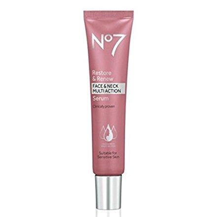 No7 Restore & Renew Face & Neck MULTI ACTION Serum 30ml