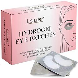Under Eye Bags Treatment Patches   Eye Mask with Hyaluronic acid and SNAIL Slime Extract   Puffy Eyes  Dark Circles Under Eye Treatment Masks