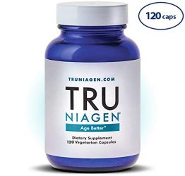 TRU NIAGEN Nicotinamide Riboside – Patented NAD Booster for Cellular Repair & Energy, Vitamin B3 Niacin NMN, 150mg Vegetarian Capsules, 300mg Per Serving, 60 Day Bottle
