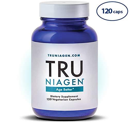 TRU NIAGEN Nicotinamide Riboside – Patented NAD Booster for Cellular Repair & Energy, Vitamin B3 Niacin NMN, 150mg Vegetarian Capsules, 300mg Per Serving, 60 Day Bottle