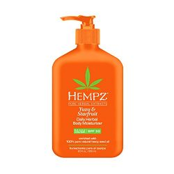Hempz Yuzu & Starfruit Daily Herbal Moisturizer with Broad Spectrum SPF 30 – Fragranced, Paraben-Free Sunscreen with 100% Natural Hemp Seed Oil for Women – Premium Skin Care Products