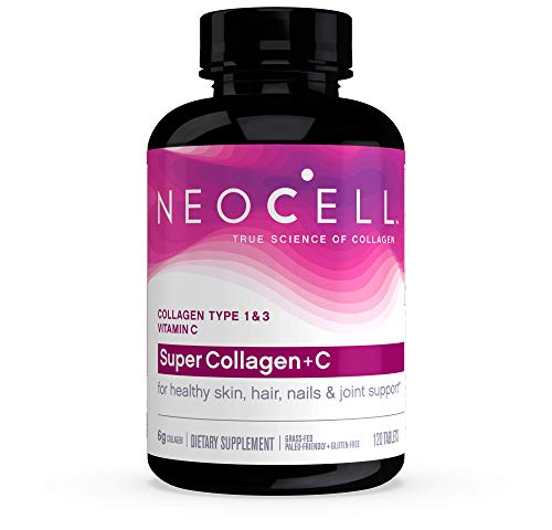 NeoCell Super Collagen + C – 6,000mg Collagen Types 1 & 3 Plus Vitamin C – 120 Tablets (Packaging May Vary)