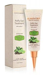 Puffy Eyes Treatment Instant results – Naturally Eliminate Wrinkles, Puffiness, Dark Circle and Bags in Minutes – Hydrating Eye Cream w/Green Tea Extract, Dead Sea Minerals by SEAMANTIKA – .8 oz