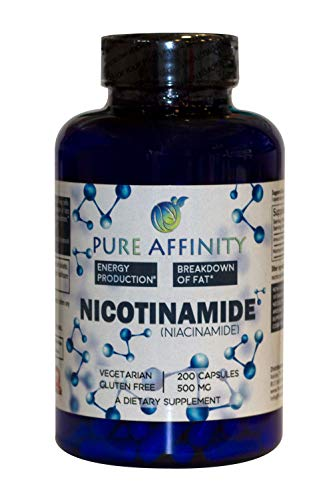 200 Count! B3 Nicotinamide 500 mg Effective Flush-Free Niacin. Energy Booster, Cell Regenerator, Supports Cognitive Decline, Anti-Aging and Helps Breaks Down Carbs & Fats (200 Ct)