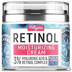 Anti Aging Retinol Moisturizer Cream for Face – Natural and Organic Night Cream – Made in USA – Wrinkle Cream for Women and Men – Facial Cream with Hyaluronic Acid and 3% Retinol Complex