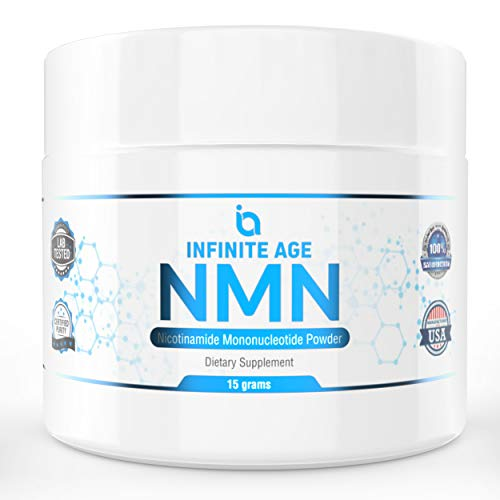 NMN Supplements, NMN Nicotinamide Mononucleotide, Nad Booster By Infinite Age  NMN Powder 15 GRAMS (Per Jar) For Anti Aging, Brain Function, Stress, Health, Energy. NMN Molecule Supplement