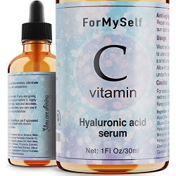 Vitamin C Serum For Face 20% with Hyaluronic Acid 1 Fl.Oz Vitamin E Natural Anti Aging & Wrinkle Retinol Facial Serum Sun Damage Corrector Remover for Face Dark Circles Under Eye Fine Lines Treatment