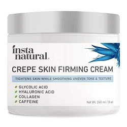 Crepe Firming Cream for Neck, Face, Chest, Legs & Arms – Tightening & Lifting, Anti-Aging, Anti-Wrinkle, Collagen Skin Repair Treatment – Made With Hyaluronic Acid, Alpha Hydroxy & Caffeine – 8 oz